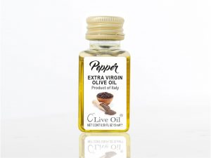 Black Pepper Natural Extra Virgin Olive Oil - Single Serve Dressing, Live Oil