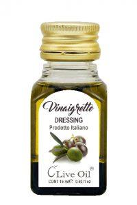 Condimento monodose con Olio extra vergine di oliva italiano e Aceto balsamico di Modena